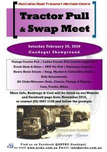 Australian Road Transport Heritage Center- Tractor Pull / Swap Meet, 29th Feb 2020